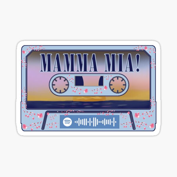 Mamma Mia Bande son du film Spotify Code Sticker