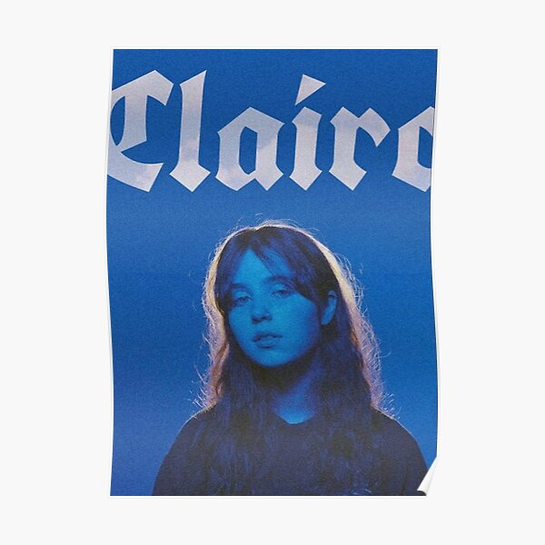 Clairo Blue Aesthetic Poster