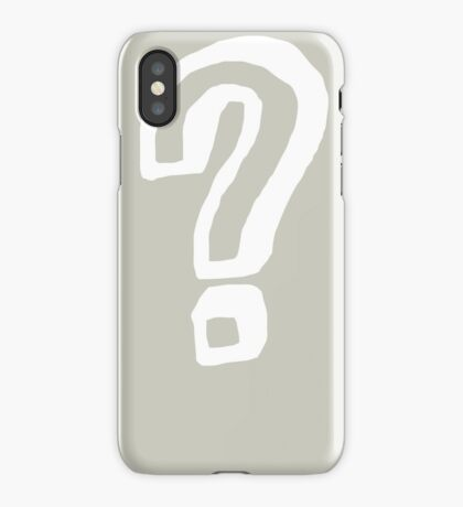 Question Mark - style 8 iPhone Case