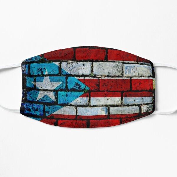 Bandera de Puerto Rico Mascarilla plana