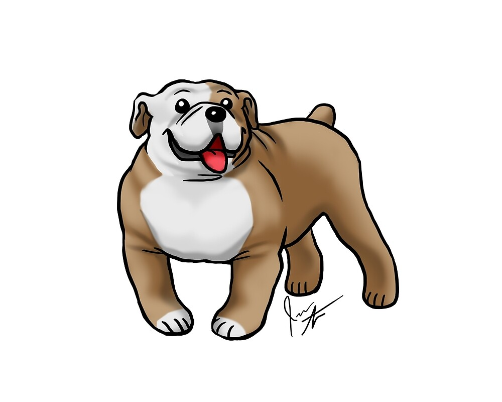 English Bulldog by Jennifer Stolzer