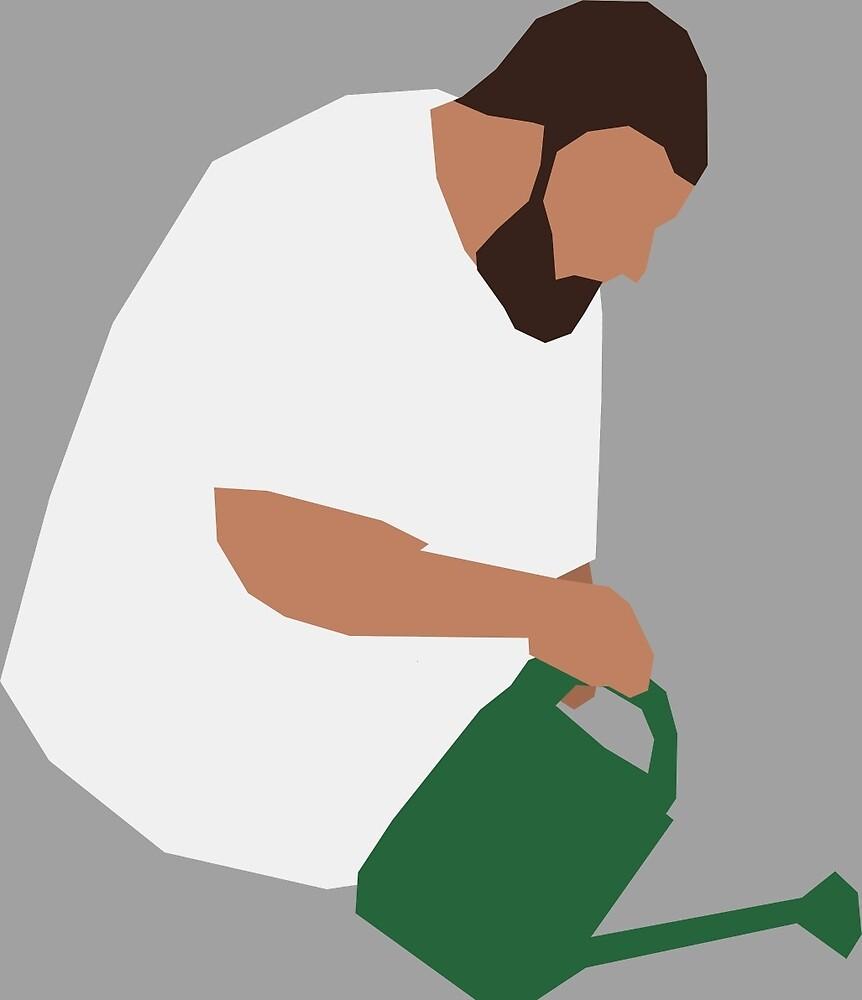 DJ Khaled Gardening by Frexk