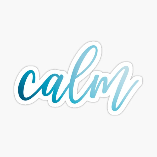 Calm Sticker
