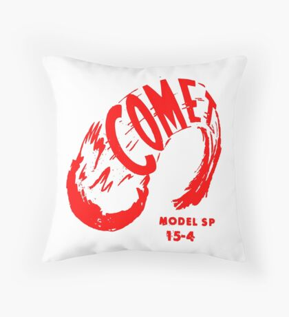 Comet (red) Throw Pillow