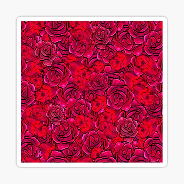 Rose abstract design Sticker