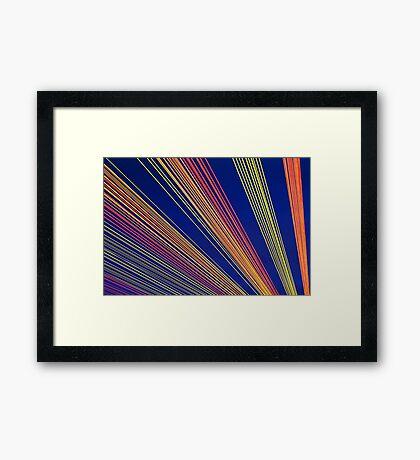 Rainbow Strings Framed Print