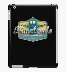 TIMELORDS TIME TRAVEL AGENCY  iPad Case/Skin