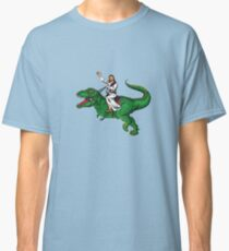 Jesus Riding a Dinosaur Classic T-Shirt