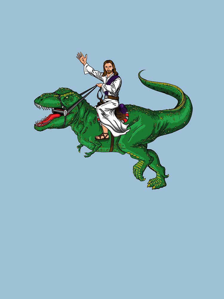 Jesus Riding a Dinosaur | Unisex T-Shirt