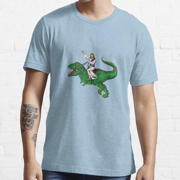 Jesus Riding a Dinosaur Essential T-Shirt