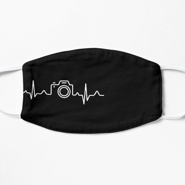 HEARTBEAT CAMERA (white) Flat Mask