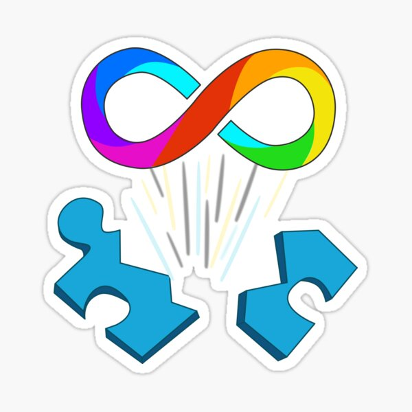 Autism Acceptance - Infinity sign Sticker