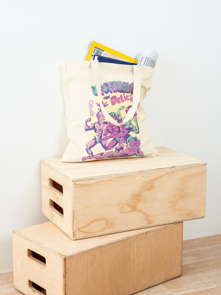 Alternate view of Vegetables are Delicious Tote Bag