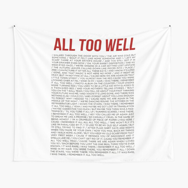 ALL TOO WELL Tapestry