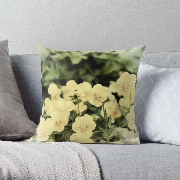 Viola- little rays of sunshine! Throw Pillow