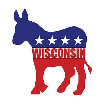 Wisconsin Democrat Donkey by Democrat