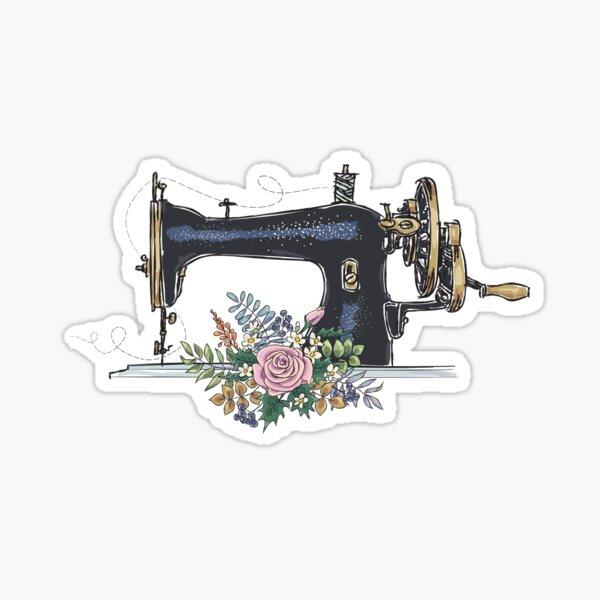 Vintage Sewing Machine Sticker