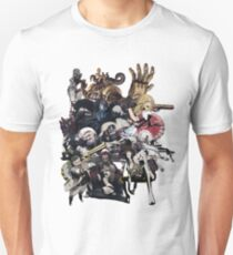 No More Heroes - Top 10 Ranked Assassins (concept art collage) Unisex T-Shirt