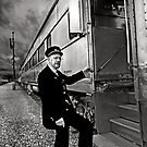 The Train Conductor by Sue  Cullumber