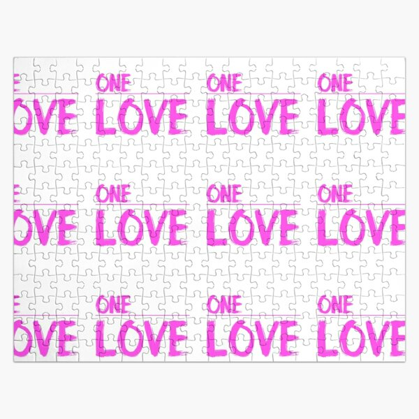 ONE LOVE pink Jigsaw Puzzle