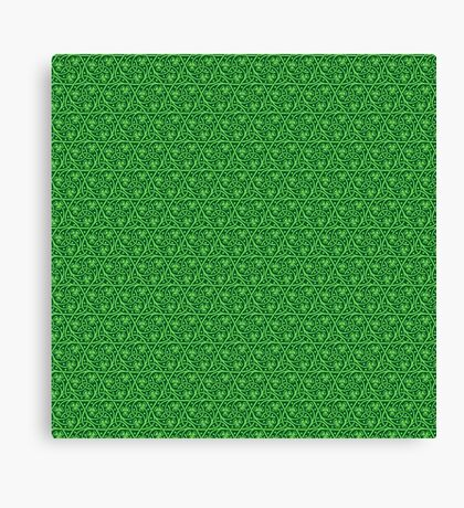 Irish Celtic Shamrocks Canvas Print