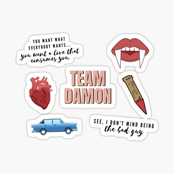 Team Damon Vampire Pack Sticker