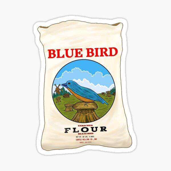 Blue Bird Flour Sticker