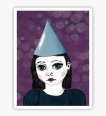 Lonely Girl's purple party Sticker