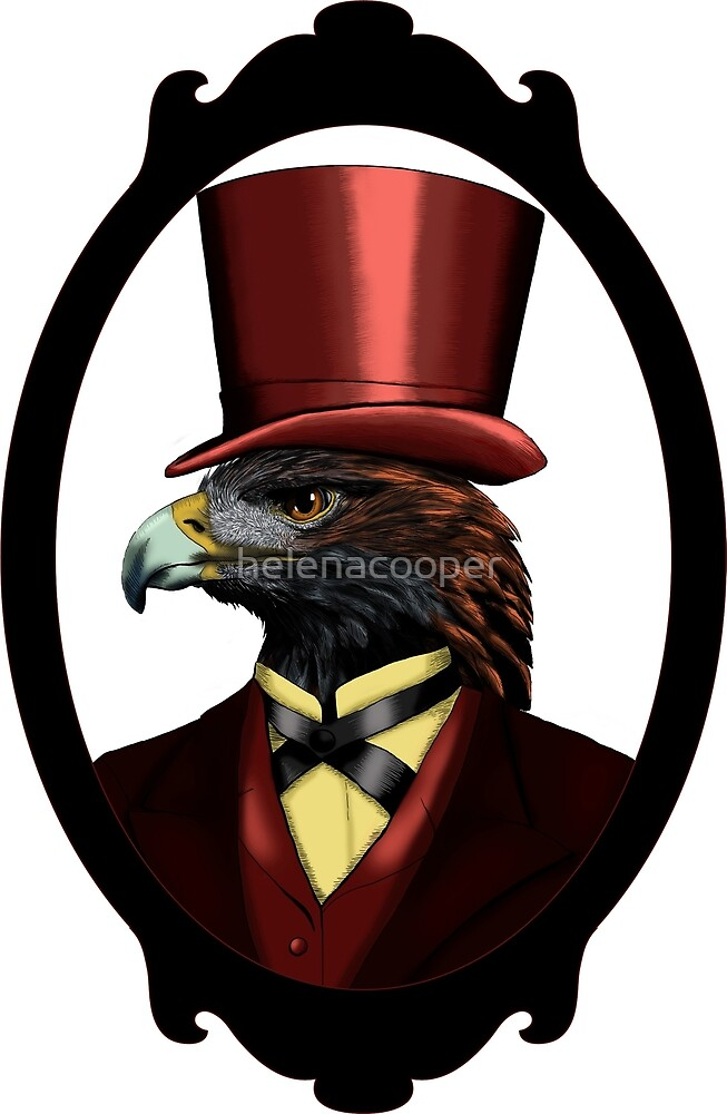 Eagle in top hat by helenacooper