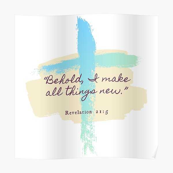 Revelation 21:5 Verse Poster