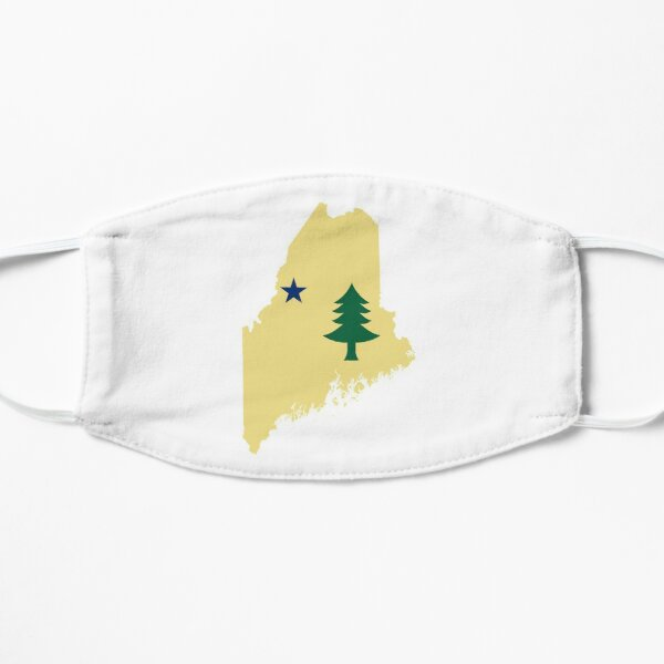Flag of Maine (1901 to 1909) on Map of Maine  Mask
