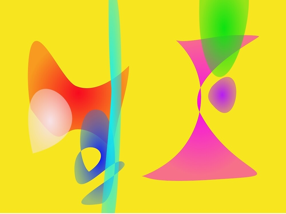 Yellow Abstract Toys by masabo