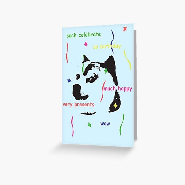 much doge birthday Greeting Card