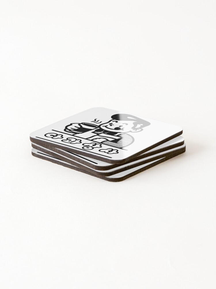 Alternate view of Coffee Time Korean Cafe Coasters (Set of 4)