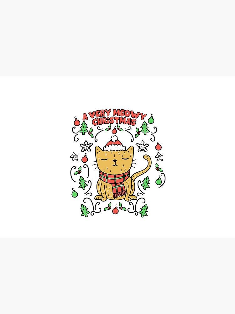 Very Meowy Christmas Cat | Vintage Retro Kitty by Kittyworks