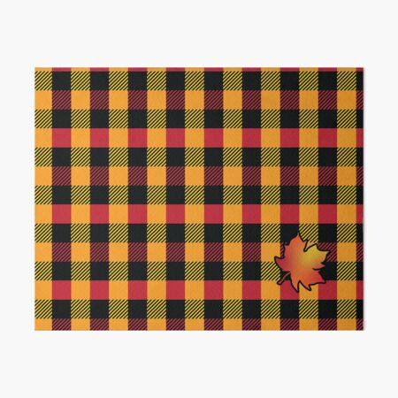 Plaids • Autumn - Orange, Red, Yellow and Black Art Board Print