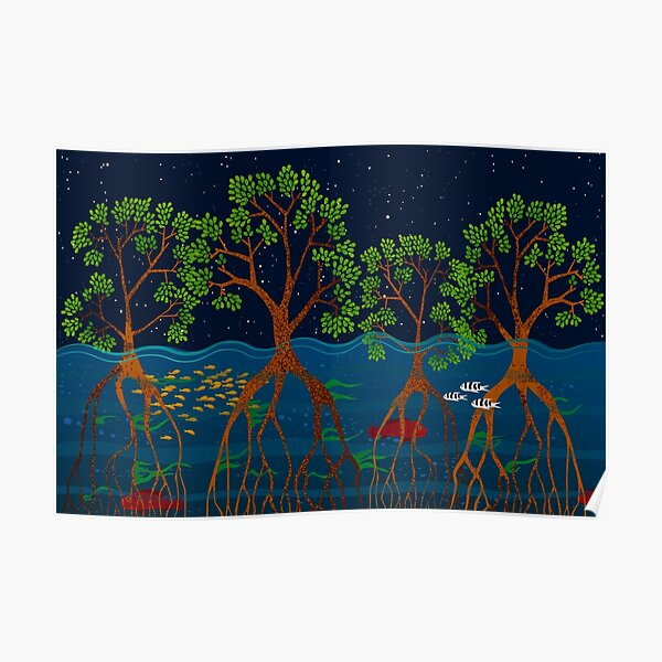Magical mangrove forest Poster