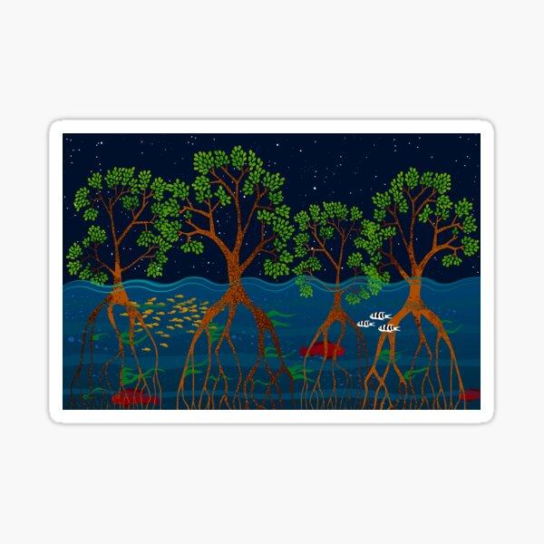 Magical mangrove forest Sticker