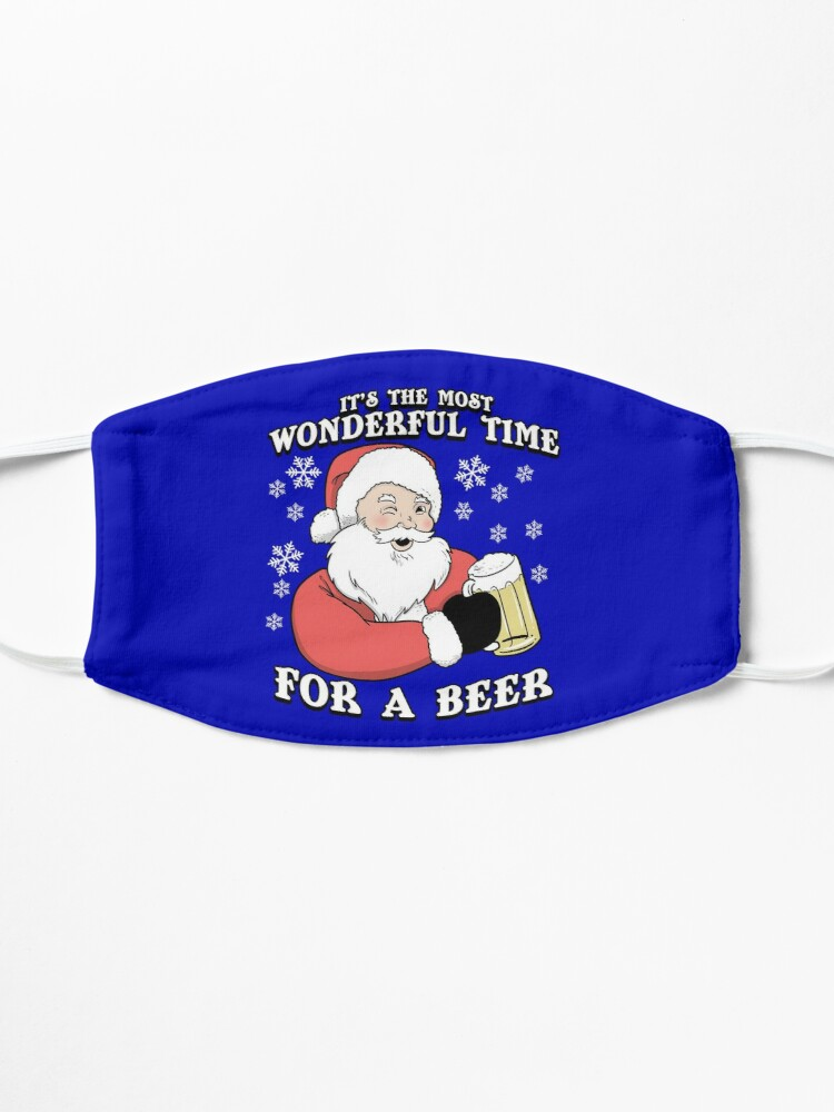 Alternate view of It's The Most Wonderful Time For A Beer | Vintage Santa Mask