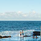 Swimmers at Tamarama Beach by worldwondering
