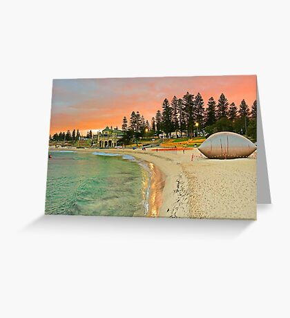 Sculptures By The Sea Sunrise  Greeting Card