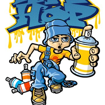 B-boy Hip-hop graffitis by arrazak