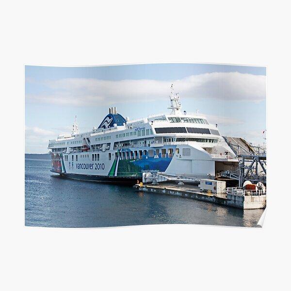 BC Ferries Victoria BC Poster