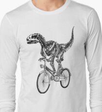Camiseta de manga larga Skeleton Fossil Love Bike