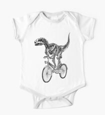 Skeleton Fossil Love Bike  One Piece - Short Sleeve