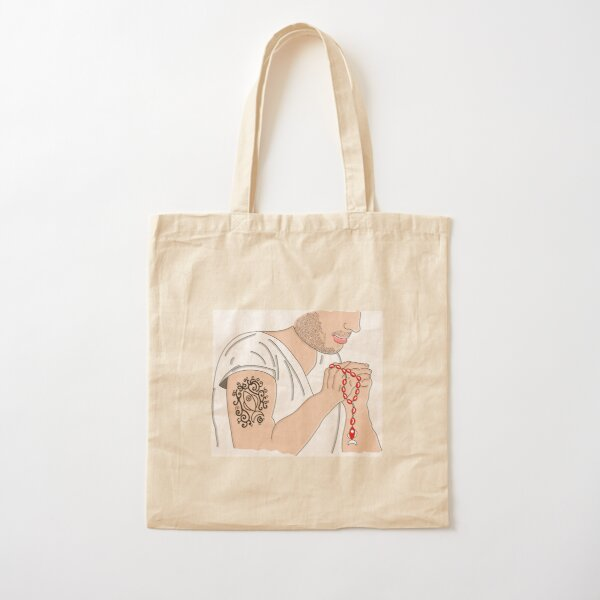 Rosary Cotton Tote Bag