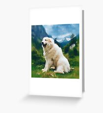 Great Pyrenees In The Valley Greeting Card