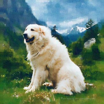 Great Pyrenees In The Valley by GreatPyrFancy