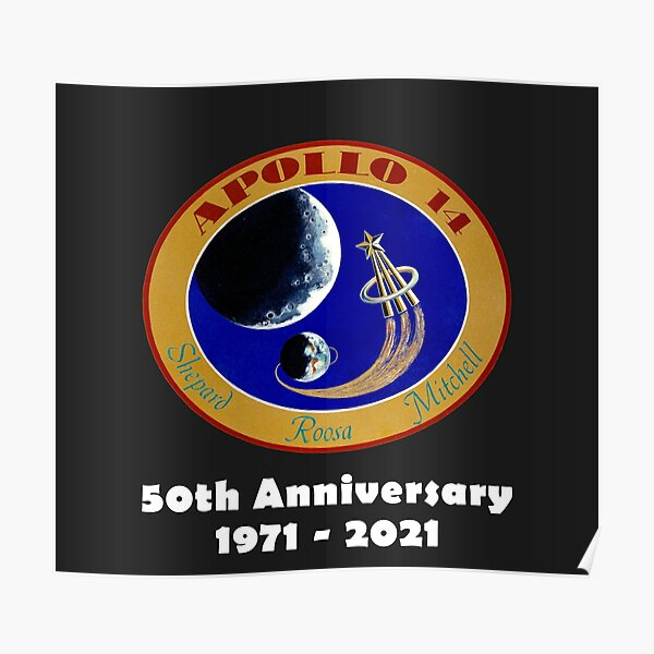 Apollo 14 50th Anniversary Poster