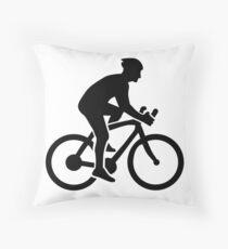 Mountainbike cycling Throw Pillow